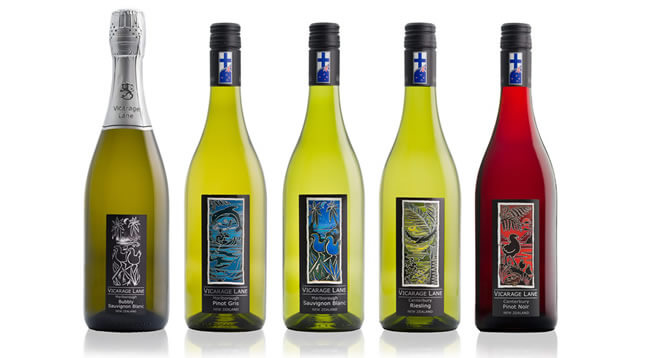 Wines Selection By Vicarage Lane Wines In Blenheim Marlborough NZ
