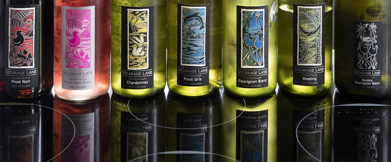 Product Range Produced By Vicarage Lane Wines In Blenheim Marlborough NZ